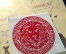 Наклейка стикер BLACK STAR Лев красный