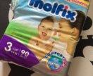 Памперсы MOLFIX 4-9 кг 90 штук