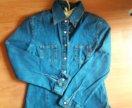 34 размер джинсовая рубашка на девочку