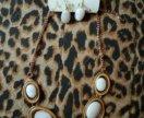 Комплект бижутерия ожерелье сережки