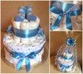 Торт из памперсов для новорождённого
