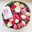 Цветочные коробки со сладостями