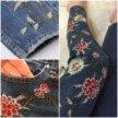 Новые джинсы с вышивкой,джинсы с аппликацией
