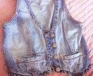 Жилеты джинсовые