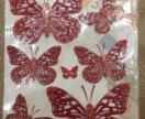 3Д бабочки для декора
