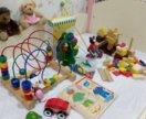 Огромный пакет деревянных игрушек