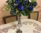 Стойка ваза для букета оформление стола на свадьбу