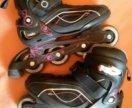 Роликовые коньки жен Oxelo Fit3, рр 39,5 с защитой