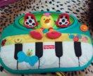 Мягкое детское пианино Fisher Price Шлепай и играй