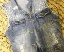 Жилетка джинсовая новая
