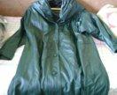 Итальянское Пальто из натуральной кожи.