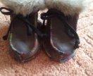 НОВЫЕ Меховые ботиночки на малыша