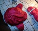 Комплект Шапка Kangol + Перчатки Красные Идеал