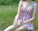 Платье с вишнями
