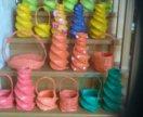 Для оформления вазы для цветов, корзиночки