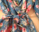 Платье шелк розами