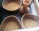 набор плетеной посуды