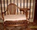 плетенный диванчик из лозы