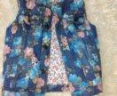 Джинсовая жилетка для девочки