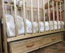 Кровать детская 0-3 + матрас в подарок