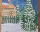 Открытки новогодние, акварель