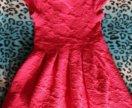 Малиновое платье новое