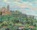 картина Вид на Новоафонский монастырь 35х50, х/м