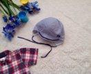 Лёгкая шапочка для мальчика на лето