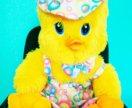 Плюшевый цыпленок, Желтый Цвет. 55 см.