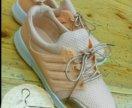 Кроссовки нежно персикого цвета