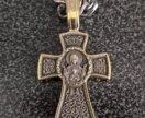 Цепь с крестом + браслет (серебро 925)