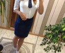 школьная джинсовая юбка