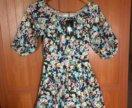 Цветастое платье новое