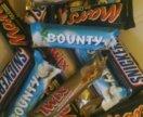 Мороженое Твикс,Баунти,Марс,Сникерс