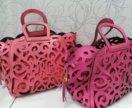 YSL: сумка-корзина цвета фуксия