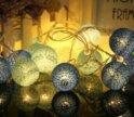 Гирлянда, хлопковые шарики