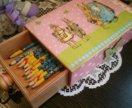 Пенал - короб - шкатулка, коробка для карандашей