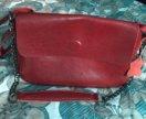 Новая кожаная сумочка на цепочке