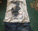 Джинсовые шорты с майкой