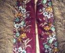 Длинный жилет с мехом