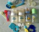 Бутылочки, соски, прорезыватели, ниблер