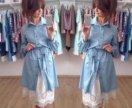 Платье - рубашка из лёгкой джинсы. Новое