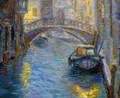 """Картина маслом """"Ночная Венеция"""""""