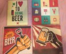 Картина атрибутика пиво холст интерьер