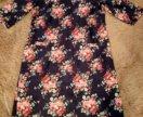 Платье в цветочек под джинсу 54 размер