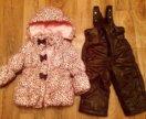 Зимний костюм на девочку 1-2 года