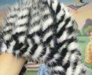Зимняя шапка девочке из вязаной норки
