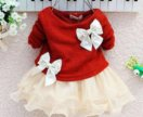Красное платье на малышку