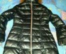 Осенне-зимнее пальто из экокожи