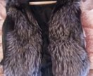 Меховая жилетка чернобурка 42-44 размер
